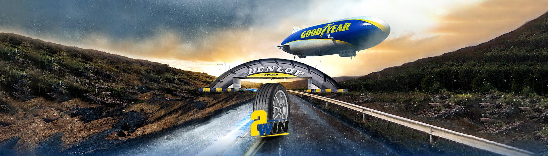 Goodyear 2 Win - Dunlop 2 Win
